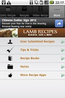 Screenshot of Lamb Recipes!