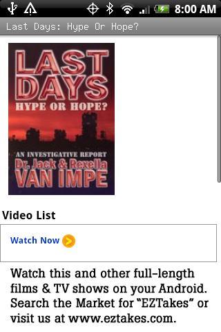 Last Days: Hype Or Hope Movie
