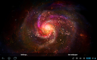 Screenshot of Galactic Core Live Wallpaper