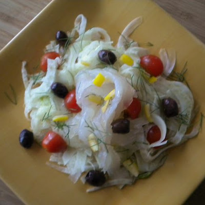 Lemon Cured Halibut over Shaved Fennel Salad