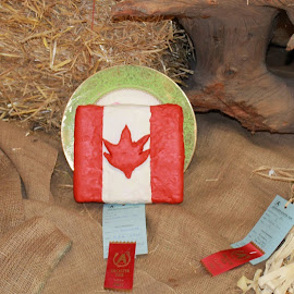 Kyles playdoh Canada Day cake. by Denise Dunkley Hall - Novices Only Objects & Still Life