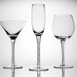 Glassware 3 by Kevin Egan - Artistic Objects Glass ( backlit, b&w, glassware, glass, crystal )