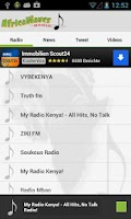 Screenshot of Africa Radio Internet Radio