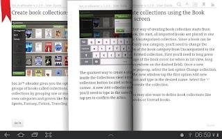 Screenshot of Socio eReader