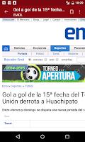 Screenshot of Chile Notícias