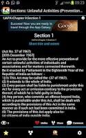 Screenshot of Unlawful Activities (Prev) Act