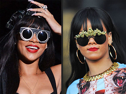 Rihanna with crazy sunglasses