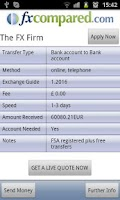 Screenshot of Currency Transfers Compared