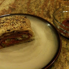 Spicy Meat and Cheese Stromboli