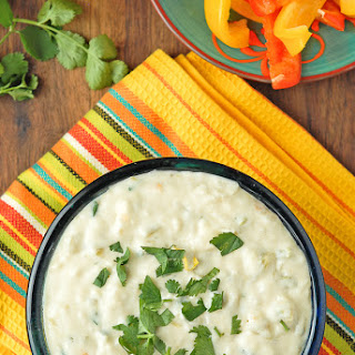 Slow Cooker White Queso Green Chile Dip {Queso Blanco}