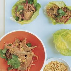 Asian Beef in Lettuce Cups