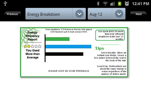 Utility Energy Conservation - screenshot