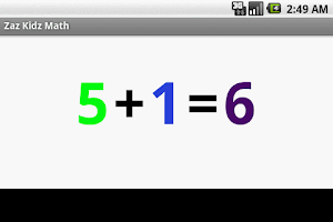 Screenshot of Zaz Kidz Math