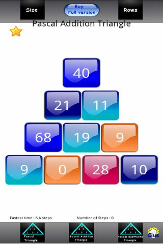 Pascal Numbers Triangle Lite