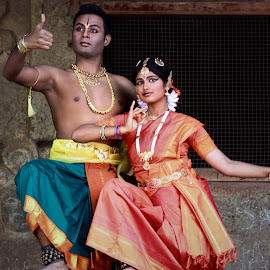 Shiva parvati  by Amit Bhattacharjee - People Musicians & Entertainers ( performers, shiva parvati, dancers, bharatanatyam, dance )