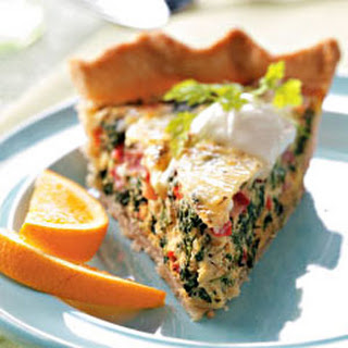 Spinach Swiss Quiche Recipe