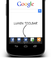Screenshot of Lumen Toolbar