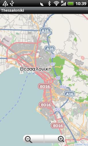 Thessaloniki Street Map