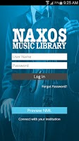 Screenshot of Naxos Music Library
