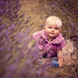 Baby Ivy in the Lavender by Chinchilla  Photography - Babies & Children Babies