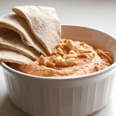 Roasted Red Pepper Hummus With Pine Nuts