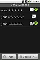 Screenshot of Call & SMS Blocker