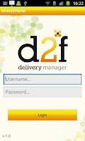Screenshot of D2F Delivery Manager