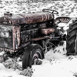 Out of order by Bjørnar Røtting - Artistic Objects Technology Objects ( old, snow, rust, tractor, spring )