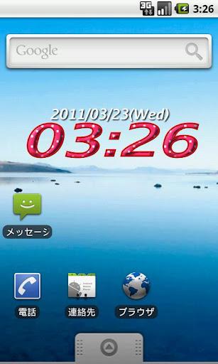 デジクロッくん Demo. Widget