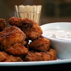 Spicy Fried Chicken Bites with Derby Dip