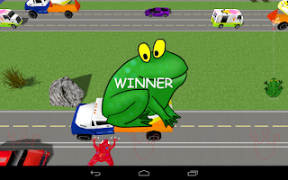 Screenshot of Frog Race 3D