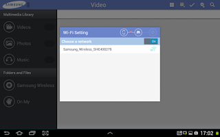 Screenshot of Samsung Wireless