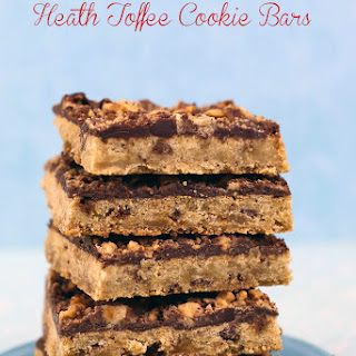 Heath Toffee Cookie Bars