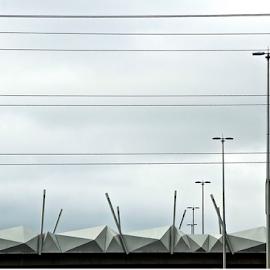 Flyover Art by Martha van der Westhuizen - Buildings & Architecture Bridges & Suspended Structures ( n1, highway, artistic, lampposts, blocks, concrete, flyover )