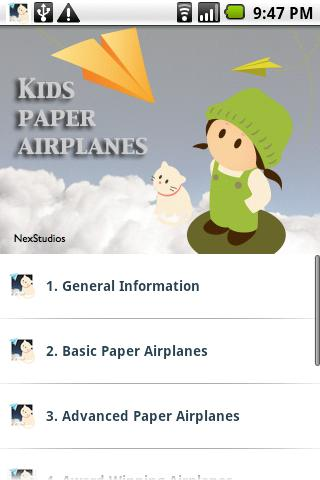 Kids Paper Airplanes