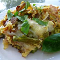 Asparagus, Potato, and Onion Frittata