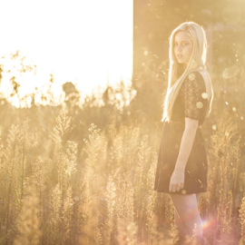 Afternoon Delight by Nick Ferreira - People Fashion ( field, blonde, girl, woman, sunset, golden hour )