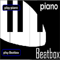 piano and beat box maker icon