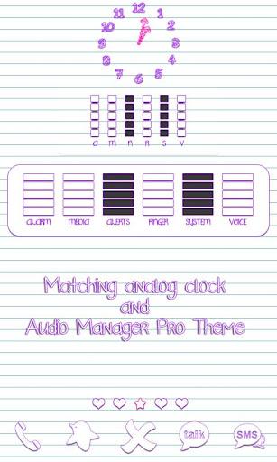 【免費個人化App】Scribbles Purple Analog Clock-APP點子