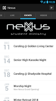 Screenshot of Nexus Student Ministry