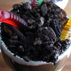Dirt Trifle With Gummy Worms