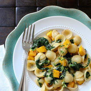 Roasted Pumpkin Pasta with Thyme Browned Butter Sauce