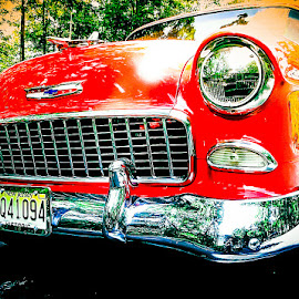 Red 56 by Sue Delia - Transportation Automobiles ( car, belair, red, 1956, restored,  )