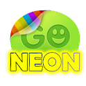 Yellow  neon theme GO SMS Pro icon