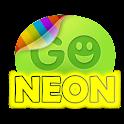 Yellow  neon theme GO SMS Pro