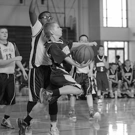 Determination  by Keith Kijowski - Sports & Fitness Basketball ( basketball, youth sports )