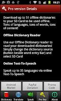 Screenshot of Multi Lang Dictionary + TTS