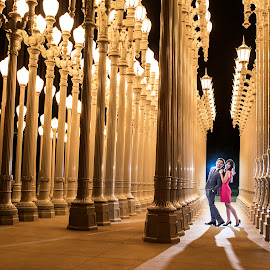 Being deeply loved by someone gives you strength, while loving someone deeply gives you courage. by Yansen Setiawan - Wedding Other ( lights, urban light, night, lacma, engagement )