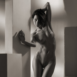 Bends by Dmitry Laudin - Nudes & Boudoir Artistic Nude ( studio, nude, girl, geometry. figure, opinion )