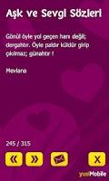 Screenshot of Aşk ve Sevgi Sözleri